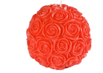 Manulena Ball of Roses 9cm Red Candle