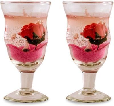 Yes No Shama Pink- (Set of 2) Candle