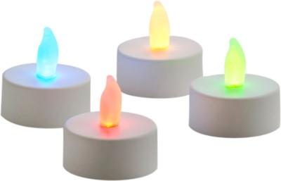 Expressme2u Flameless LED Candle(White, Pack of 4)