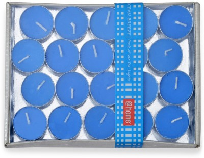 @home scented tealight Candle(Blue, Pack of 20)