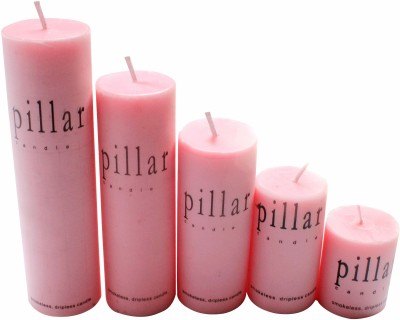 Bemoree Rose Pillar Scented Candle