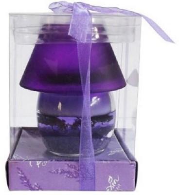 My Art Purple Glass Pot Gel Candle