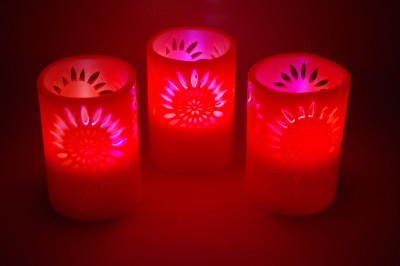 Gran Cut Work Wax Flameless Color Changing LED Candles Candle