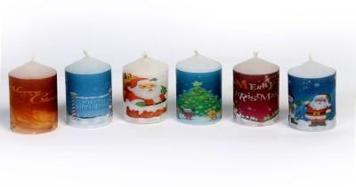 Silverlight Christmas Votive Candle