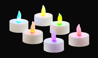 Goyal 7 Color Auto Changing Multiled Tealight Diya Candle