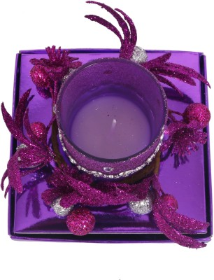 Divsam Beautiful Decorative Floral Rushlight Candle