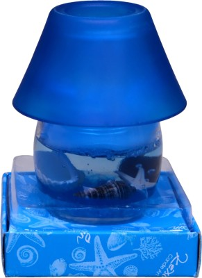 My Art Ultimate Blue Glass Pot Gel Candle