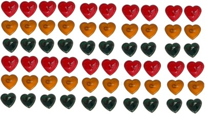 Rasmy Candles Heart Shape Gel pac of 60 Candle