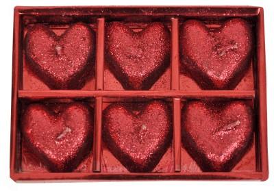 Indigo Creatives Heart Shaped Cute Glitter Candle