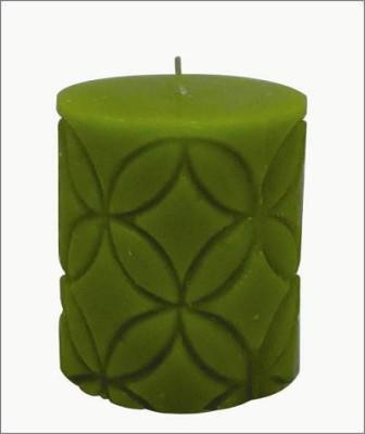 GGI Designer Pillar Candle Blue 2.75 x 6.00 Candle