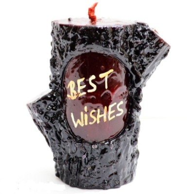 My Art Chocolate Coloured Best Wishes Candle