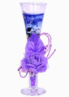 My Art Amazing Purple Glass Candle