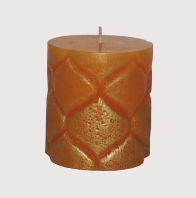 GGI Designer Embossed Pillar Candle Orange 2.75 x 3 Candle
