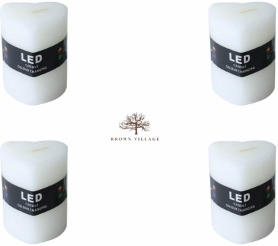 Brown Village Led color changing Candle
