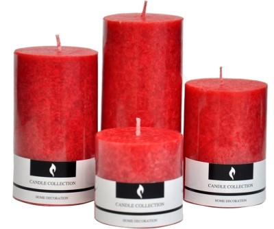 Marigold Stores Rose Scented Candles - Set of 4 Candle