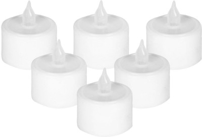 Parkash Candle Smoke Free Candle(White, Pack of 6)