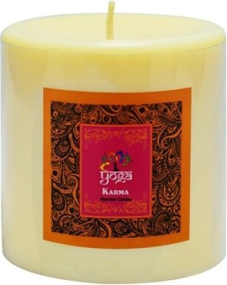 Yoga Collection by Aroma India Scented Ivory Pillar Candle 3