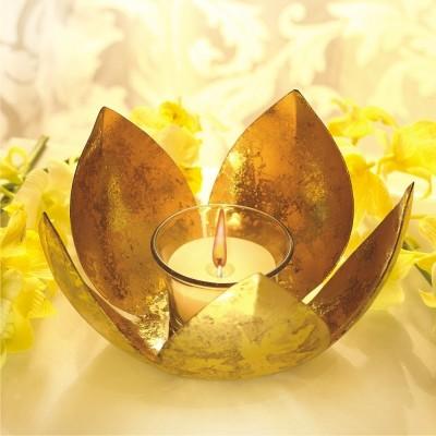Borosil Lotus Tea Light Candle