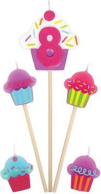 Amscan International Birthday Pick Cupcake #8 Candle