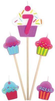 Amscan International Birthday Pick Cupcake No 7 Candle