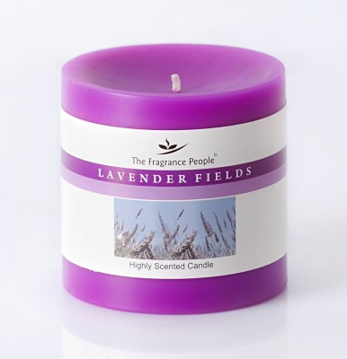 The Fragrance People Small Pillar 3 x 3 Lavender Candle