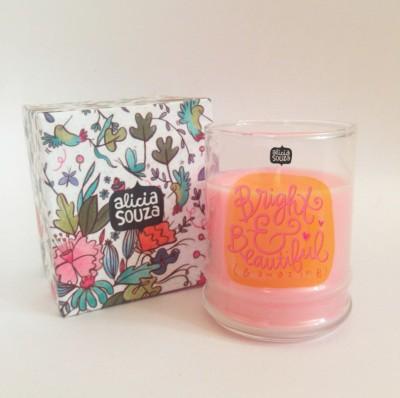 Alicia Souza Bright Soul shot glass Candle