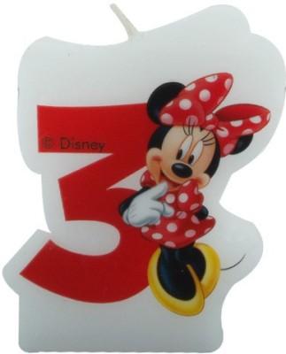 Disney Minnie Café-Birthday Numeral No3 Candle
