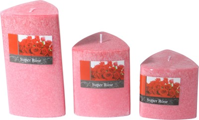 Brown Village Rose Candle