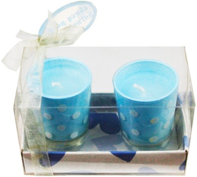 The Candle Shop Baby Blue Polka Dot Candle