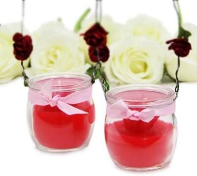 Giftsbymeeta Diwali Captivating Red Candles Candle