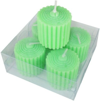 MAV Pillar Lining ( Green, Pack of 4) Candle(Green, Pack of 4)