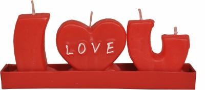 Indigo Creatives I Love you Alphabet Passion Red Candle
