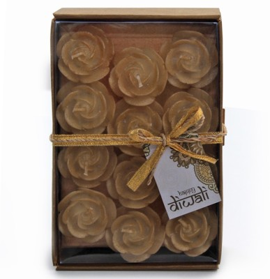 Deco Aro Floating Gold Candle(Gold, Pack of 12)