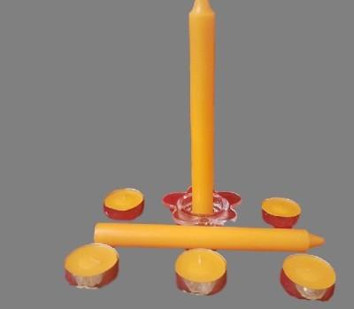 POOJA GHAR SET OF 7 YELLOW Candle