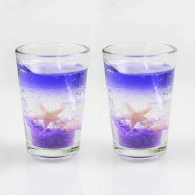 PeepalComm Glass Gel Candle
