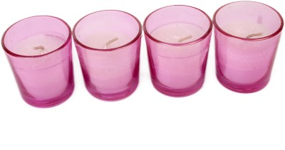 Silverlight Pink Glass Votive Candle