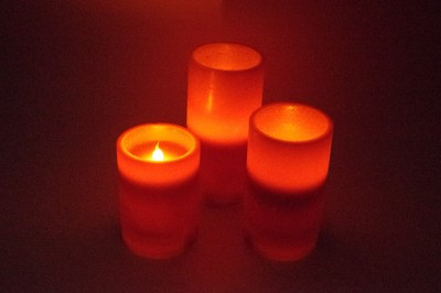 Gran Red Decorative Wax Flameless Color Changing LED Candles Candle