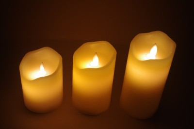 Gran White Decorative Wax Moving Flame LED Candles Candle