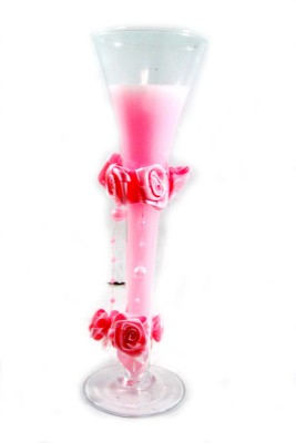 Toyzstation Glass With Flowers Candle