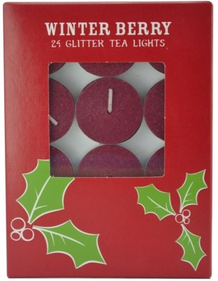 Sixth Sense Tealight Candle(Red, Pack of 24)