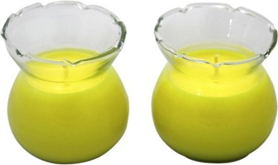 Aroma India Designer Pot Candle Set (set of 2) - Vanilla Candle