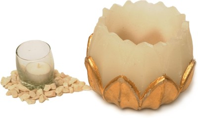 Artistique Modern Look Beautiful Lotus Candle