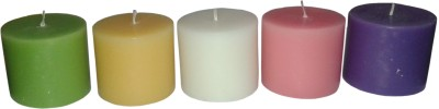 Light Jewels Aromatic Pillar Candles Set Of 5 Candle