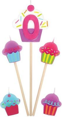 Amscan International Birthday Pick Cupcake #0 Candle