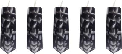 My Art Crystal Black Pillar Candle
