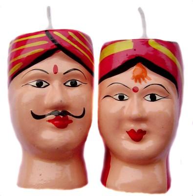 Rastogi Handicrafts Couple-R Candle