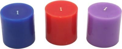JaipurCrafts Designer Scented Set Of 3 Candle
