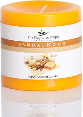 The Fragrance People Small Pillar 3 x 3 Sandal Wood Candle
