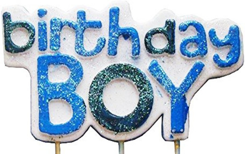 Nxt Gen Glitter Birthday Boy Candle(Multicolor, Pack of 1)
