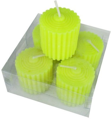 MAV Pillar Lining (Yellow, Pack of 4) Candle(Yellow, Pack of 4)